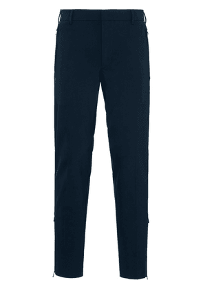 Prada extra slim technical trousers - Blue