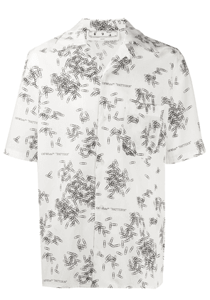 Off-White paperclip-print shirt