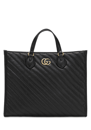 Gg Marmont 2.0 Leather Tote Bag