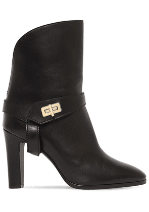 70mm Eden Leather Ankle Boots
