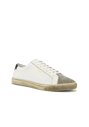 Saint Laurent Andy Low Top Sneaker in Optic White & Black - White. Size 42 (also in ).