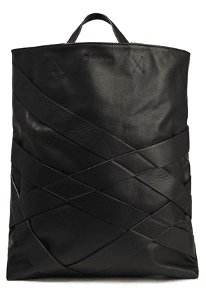 Ann Demeulemeester Leather Tote Woman Black Size --