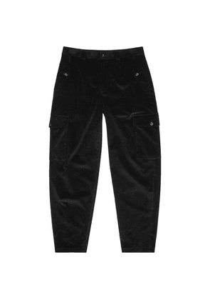 Dolce & Gabbana Black Tapered Corduroy Trousers