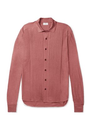 Brioni - Slim-Fit Ribbed Silk Cardigan - Men - Pink