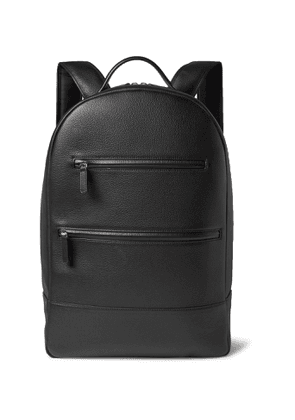 MONTROI - Full-Grain Leather Backpack - Men - Black