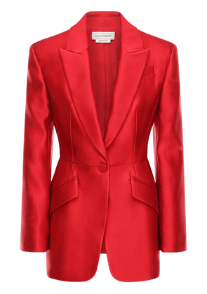 Fitted Double Duchesse Silk Jacket