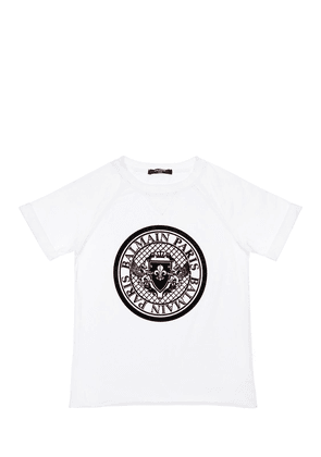 Flocked Logo Cotton Jersey T-shirt