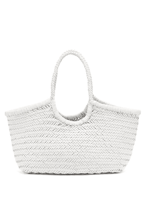 Dragon Diffusion - Nantucket Woven-leather Basket Bag - Womens - White