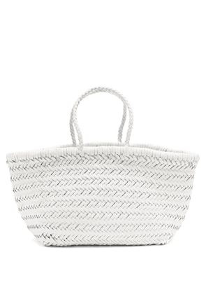 Dragon Diffusion - Triple Jump Small Woven-leather Basket Bag - Womens - White