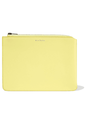 Acne Studios Malachite Leather Pouch Woman Pastel yellow Size --