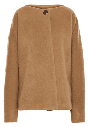 Chalayan Oversized Brushed Wool And Cashmere-blend Coat Woman Camel Size 44