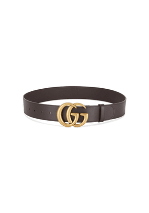 Gucci GG Brown Leather Belt