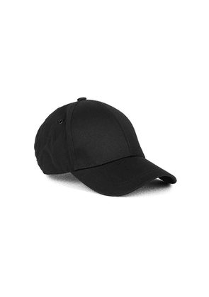 PS By Paul Smith Black Embroidered Cotton-twill Cap