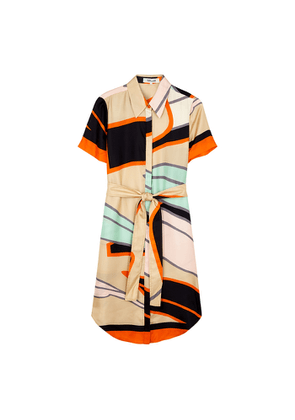 Diane Von Furstenberg Ari Printed Silk-twill Shirt Dress