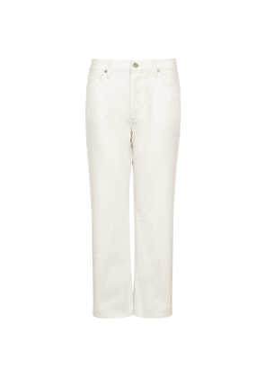 Citizens Of Humanity Emery White Cropped Straight-leg Jeans