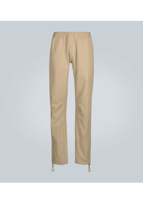 Casual paneled cotton trousers