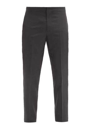 Brunello Cucinelli - Side-stripe Wool-blend Tuxedo Trousers - Mens - Black