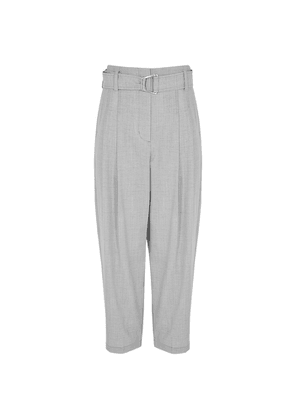 3.1 Phillip Lim Grey Tapered-leg Wool-blend Trousers