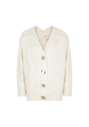 3.1 Phillip Lim Ivory Cable-knit Wool-blend Cardigan