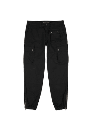 Belstaff Trialmaster Black Cotton Cargo Trousers