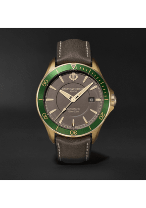 Baume & Mercier - Clifton Club Automatic 42mm Bronze and Suede Watch, Ref. No. M0A10565 - Men - Green