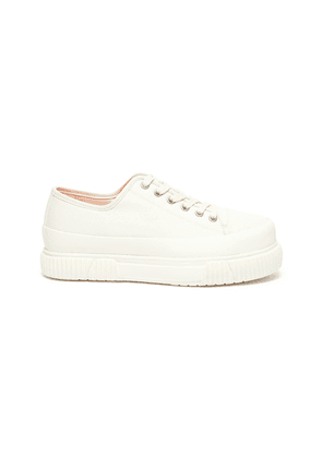 Low top platform canvas sneakers