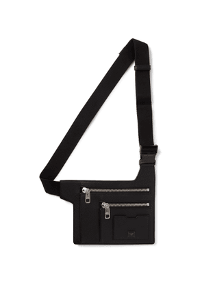 Dolce & Gabbana - Logo-Appliquéd Full-Grain Leather Belt Bag - Men - Black