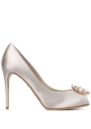 Dolce & Gabbana embellished-toe high-heel pumps - Grey