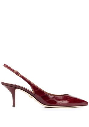 Dolce & Gabbana slingback leather pumps - Red
