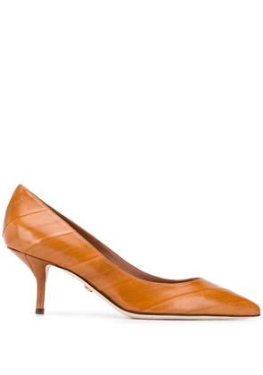 Dolce & Gabbana texture striped pumps - Brown