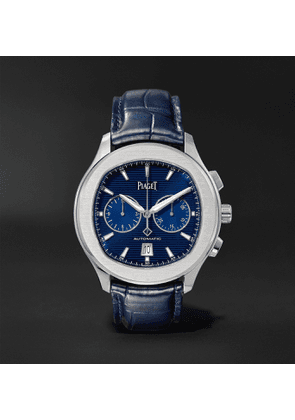 Piaget - Polo S Automatic 42mm Stainless Steel and Alligator Watch, Ref. No. G0A43002 - Men - Blue