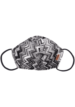 Missoni zigzag print facemask - Black