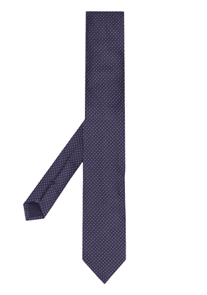 Dolce & Gabbana dot embroidered tie - Blue