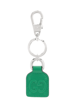 Gucci Double G leather keyring - Green