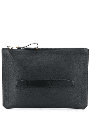 Tom Ford leather laptop bag with inset strap handle - Black