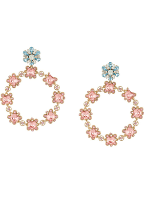 Dolce & Gabbana crystal-embellished earrings - GOLD