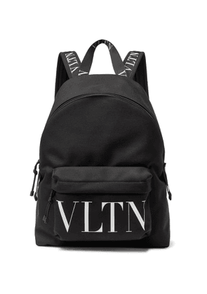 Valentino - Valentino Garavani Logo-Print Canvas Backpack - Men - Black