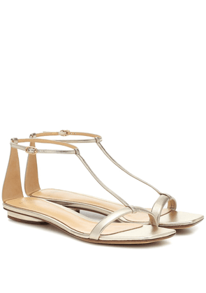 Lally metallic leather sandals