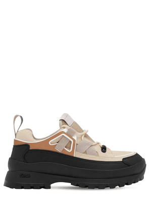 Chunky Faux Leather & Mesh Sneakers
