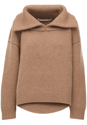 Oversize Wool Blend Knit Sweater
