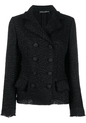Dolce & Gabbana double-breasted tweed jacket - Black