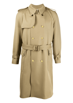Gucci double-breasted belted trench coat - Neutrals