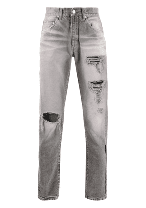 Off-White straight-leg ripped jeans - Grey
