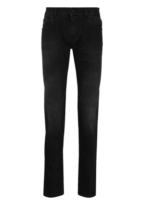 Dolce & Gabbana faded-effect straight-leg jeans - Black