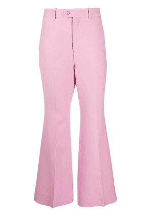 Gucci flared tailored trousers - PINK