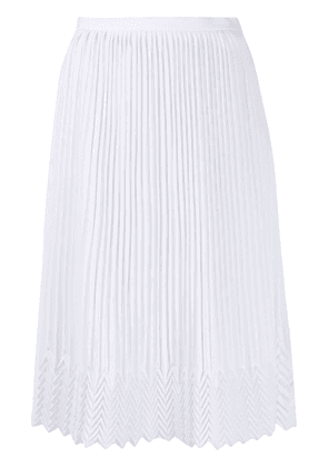 Marco De Vincenzo pleated midi skirt - White