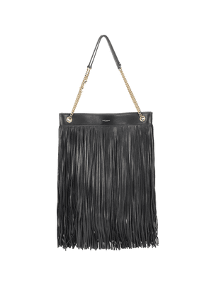 Grace Large fringed leather tote