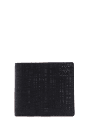 Textured Leather Billfold Wallet