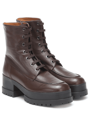 Waddie leather platform ankle boots