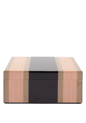 Smythson - Marquetry Striped Lacquered-wood Trinket Box - Mens - Pink